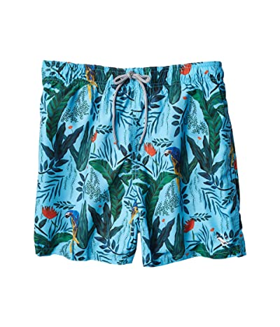 Ted Baker Borrla Parrot Print Swim Shorts (Light Blue) Men