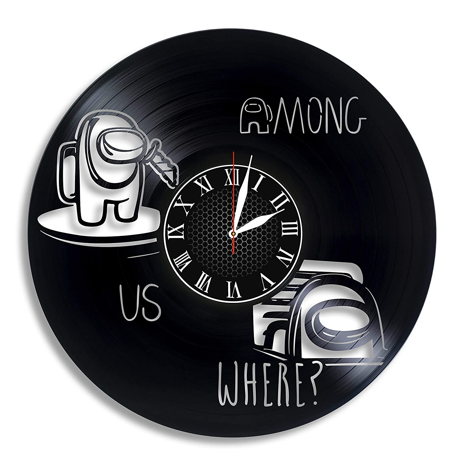 Store Among Us Video Game Vinyl Record Deluxe Wall Clock