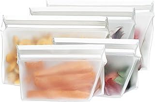BlueAvocado re-zip sello Aperitivo y bolsa para el almuerzo reutilizable, paquete de 22-Pack, Kit, Transparente, Kit, 1