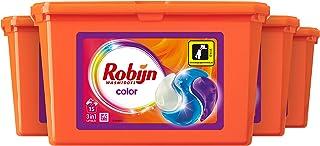 Robijn Color Wasmiddel 3 in 1 Wascapsules, voor de Gekleurde Was - 4 x 15 wasbeurten - Voordeelverpakking
