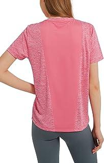 Woolicity Womens Shirt Basic T-Shirt Workout Tops Outwear Summer Shirt Short-Sleeve Tops Activewear