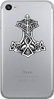 WickedGoodz 2pc Thor's Hammer Viking Rune Vinyl Decals - Cell Phone Sticker- Perfect Norse Scandinavian Gift Set