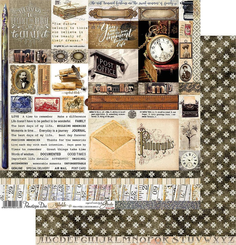 Penelope Dee Memorabilia Noteable Double-Sided Cardstock 12