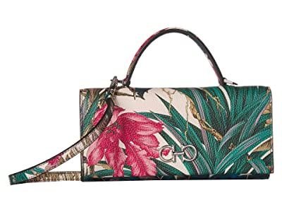 Salvatore Ferragamo Small Crossbody w/ Top-Handle 22D689 (Stampa Tropical) Handbags