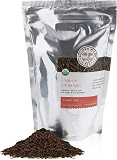 Golden Moon - Organic English Breakfast Loose Leaf Tea | Royally Rich Blend of 4 Delicious Whole Leaf Tea Leaves | 181 Servings Per Resealable Bag | Bold Invigorating Premium Quality Breakfast Blend