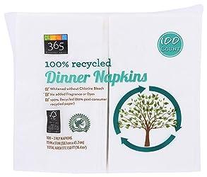 365 Everyday Value, Dinner Napkins, 100 ct