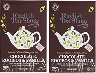 English Tea Shop - Chocolate, Rooibos & Vanilla Twin Pack - 40 Sachets - 80g
