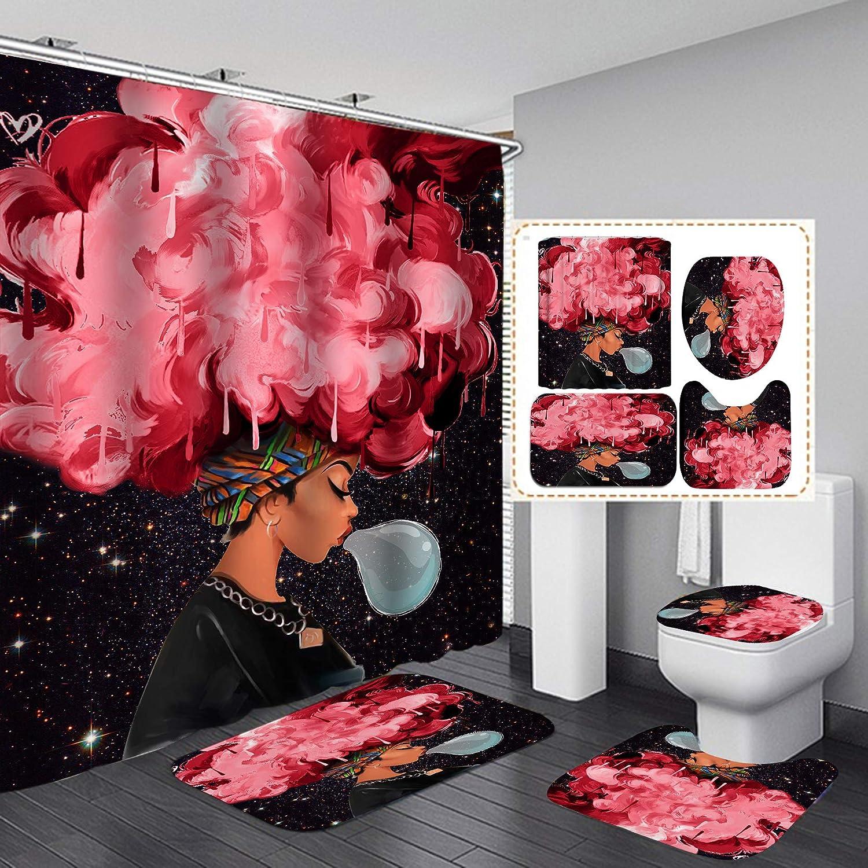 Japan Maker New Dealing full price reduction FashionMan 4PCS Set Cool Girl Waterproof Polyest Curtain Shower