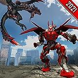 Super Dragon Warrior Robot Transform Battle - Ultimate Mega Wings Flying Dino Transforming Superhero Robot Shooting War Simulator Games 2021