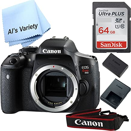 $549 Get Canon T6i Digital SLR Body Only (No Lens) - Wi-Fi Enabled(Black) with Free SanDisk Ultra 64GB SDHC Class 10 Card