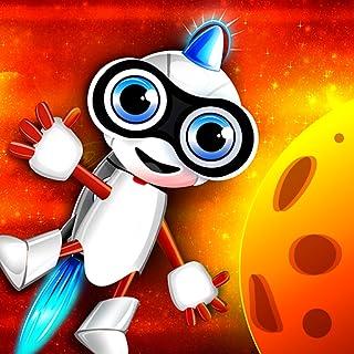 Nerd Bot Rocket : The Flying Robot Cosmos Quest in Space - Premium