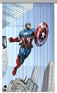 Cortinas de Capitán América baratas para habitación de niño