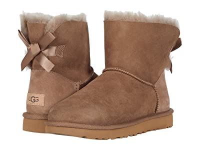 UGG Mini Bailey Bow II (Caribou) Women