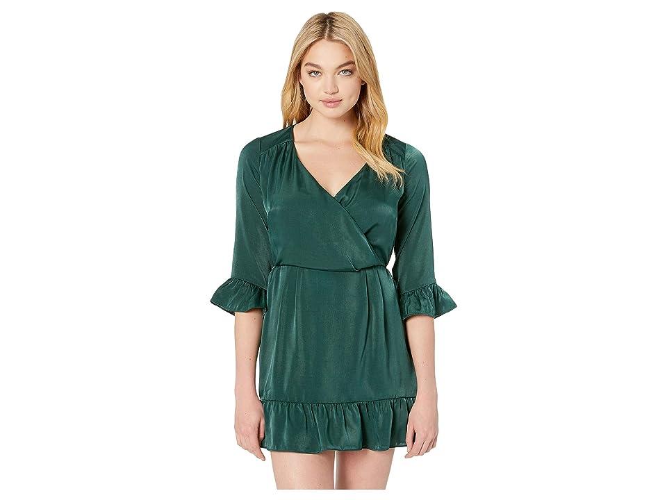 MINKPINK Modern Melody Ruffle Dress (Emerald) Women