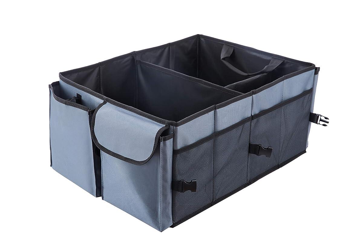 Karlscrown Trunk Organizer for Car SUV Truck Van Storage Organizers Best for Auto Accessories in Bed Interior (Gray)