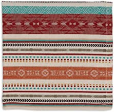 Design Imports Southwest Table Linens, 20-Inch by 20-Inch Napkin, Mesa Stripe Jacquard