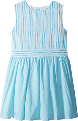 Toobydoo Aqua Blue Garden Party Dress (Toddler/Little Kids/Big Kids)