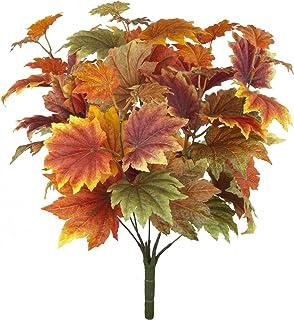 FloristryWarehouse Autumn leaves Maple bush 42cm artificial silk leaf Fall decoration by FloristryWarehouse