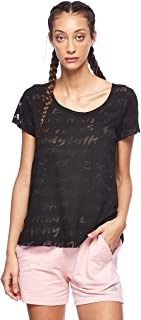 BodyTalk Women's BDTKW TSHIRT BURN OUT Loose Fit T-Shirt