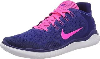 Nike Women s Free RN 2018 Running Shoe Deep Royal Blue Pink Blast Obsidian  Size befa716da