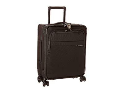 Briggs & Riley Baseline International Carry-On Expandable Wide-Body Spinner (Black) Carry on Luggage