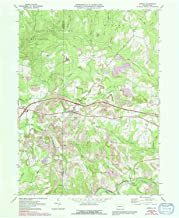 YellowMaps Corsica PA topo map, 1:24000 Scale, 7.5 X 7.5 Minute, Historical, 1969, Updated 1991, 26.9 x 22.1 in
