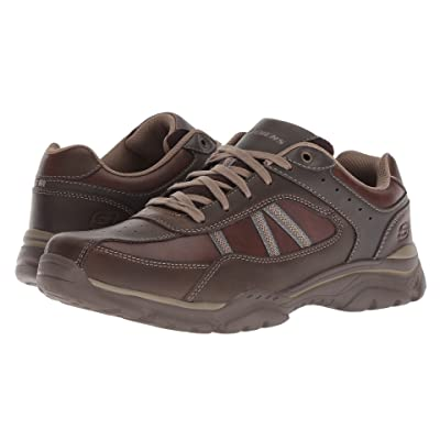 SKECHERS Relaxed Fit Rovato Texon (Chocolate) Men