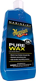 Meguiar's M5616 Marine/RV Pure Wax Carnauba Blend, 16 Fluid Ounces