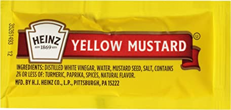 Heinz Yellow Mustard (0.2 oz Packets, Pack of 200)