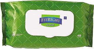 دستمال مرطوب پاک کردن پارچه ای FitRight Aloe Heavyweight، 576 Count، 8x12 اینچ دستمال مرطوب بزرگ بزرگسالان