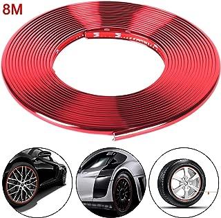 Felgenschutzring Alu Felgen Ringe Zweilagiger Schutzring modifizierter Rad-Universalreifen Dekoratives Crash Tape,Schwarz