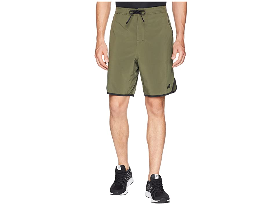 New Balance Energy Shorts (Dark Covert Green/Black) Men