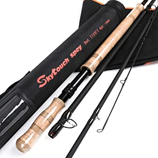 M MAXIMUMCATCH Maxcatch Two-Handed Switch & Spey Fly rods Fast Action Fly Fishing Rod with Cordura Tube