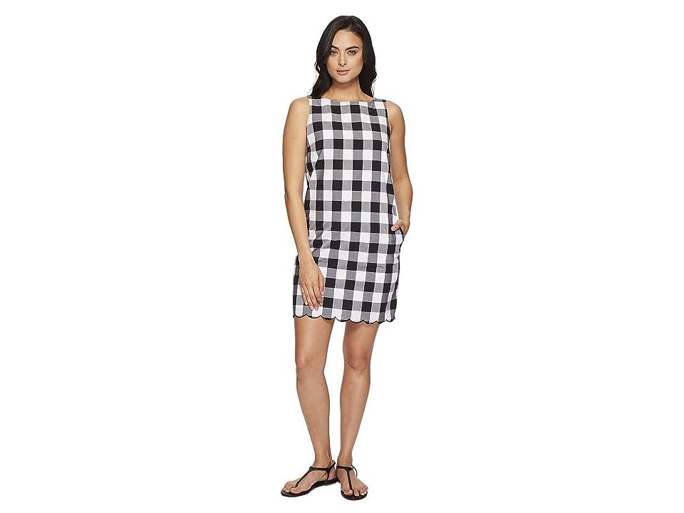 Tommy Bahama Gingham Gables Short Dress (Black) Women