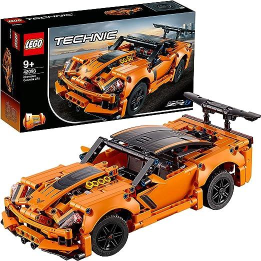 LEGO 42093 Technic Chevrolet Corvette ZR 1 Modelo de Coche de Carreras 2 en 1, Juguete de Construcción para Niños a Partir de 9 años