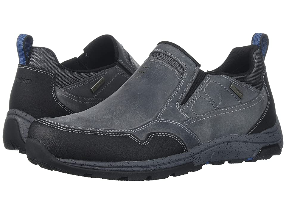 Dunham Trukka Slip-On Waterproof (Grey) Men's Slip on Shoes