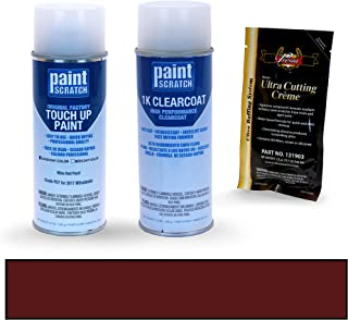PAINTSCRATCH Wine Red Pearl P57 for 2017 Mitsubishi Mirage - Touch Up Paint Spray Can Kit - Original Factory OEM Automotive Paint - Color Match Guaranteed
