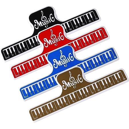 Clips de partition de Musique, 4 Pièces Note de Musique Clips Page Support Clamp Plastique Outil de Fichier pour Piano Livre Pince Stationnaire pour Piano Guitare Violon Player