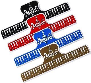 Clips de partition de Musique, 4 Pièces Note de Musique Clips Page Support Clamp Plastique Outil de Fichier pour Piano Liv...