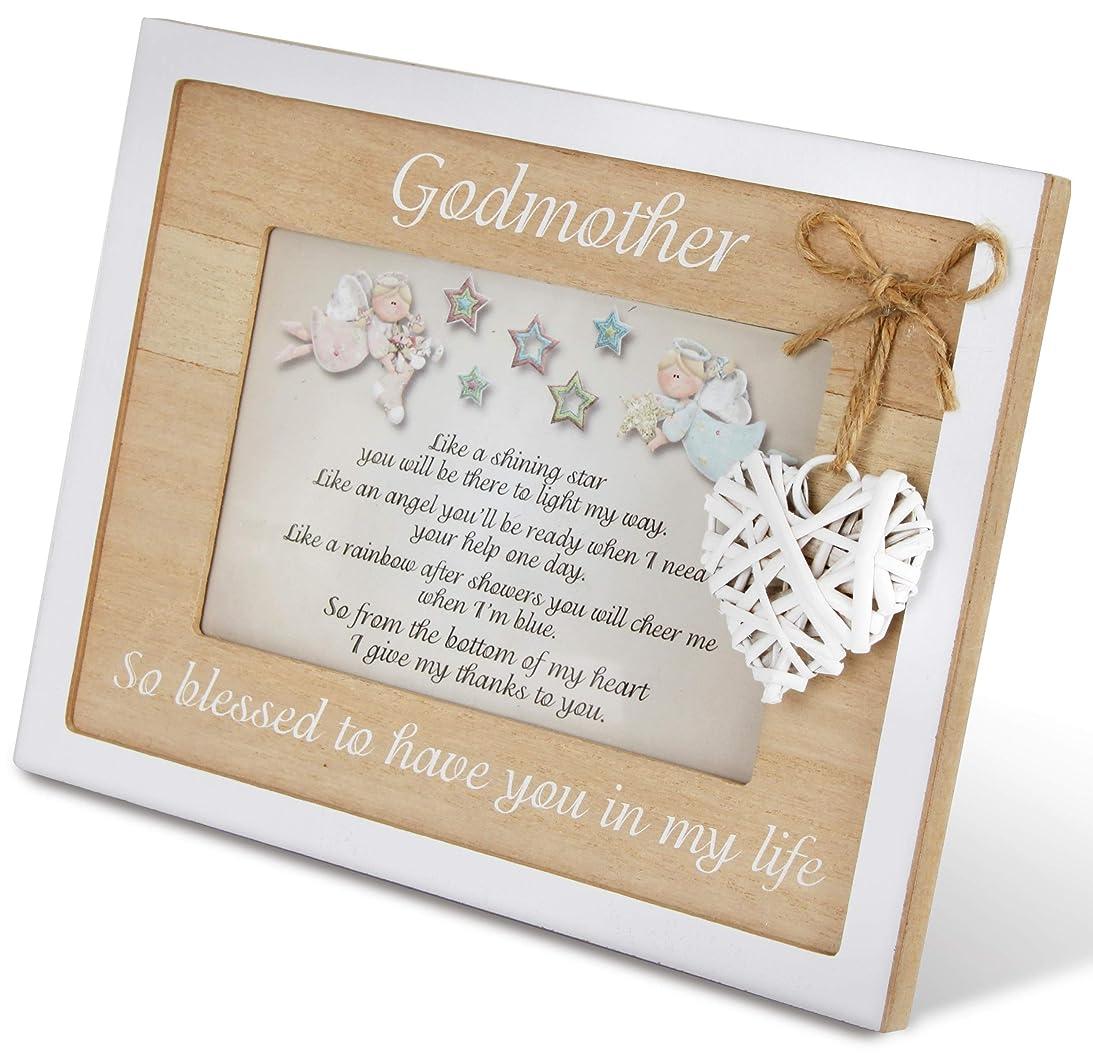 羊飼い出発ゴッドマザーフレーム 4x6 洗礼式やクリスマスのギフトに最適 美しい品質の写真フレーム 記念品 ゴッドペアレントギフト