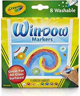 Crayola 8 Washable Window Markers For Kids,58-8165