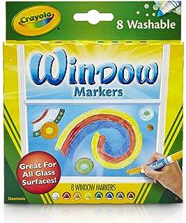 Crayola - 8 Feutres pour fenêtre - Loisir créatif - feutres et accessoires fantaisies - à partir de 3 ans - Jeu de dessin ...