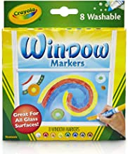 Crayola Washable Window Markers in 8 Bold, Bright Colours! Turn Windows and Other Glass Surfaces into Instant Decorations!