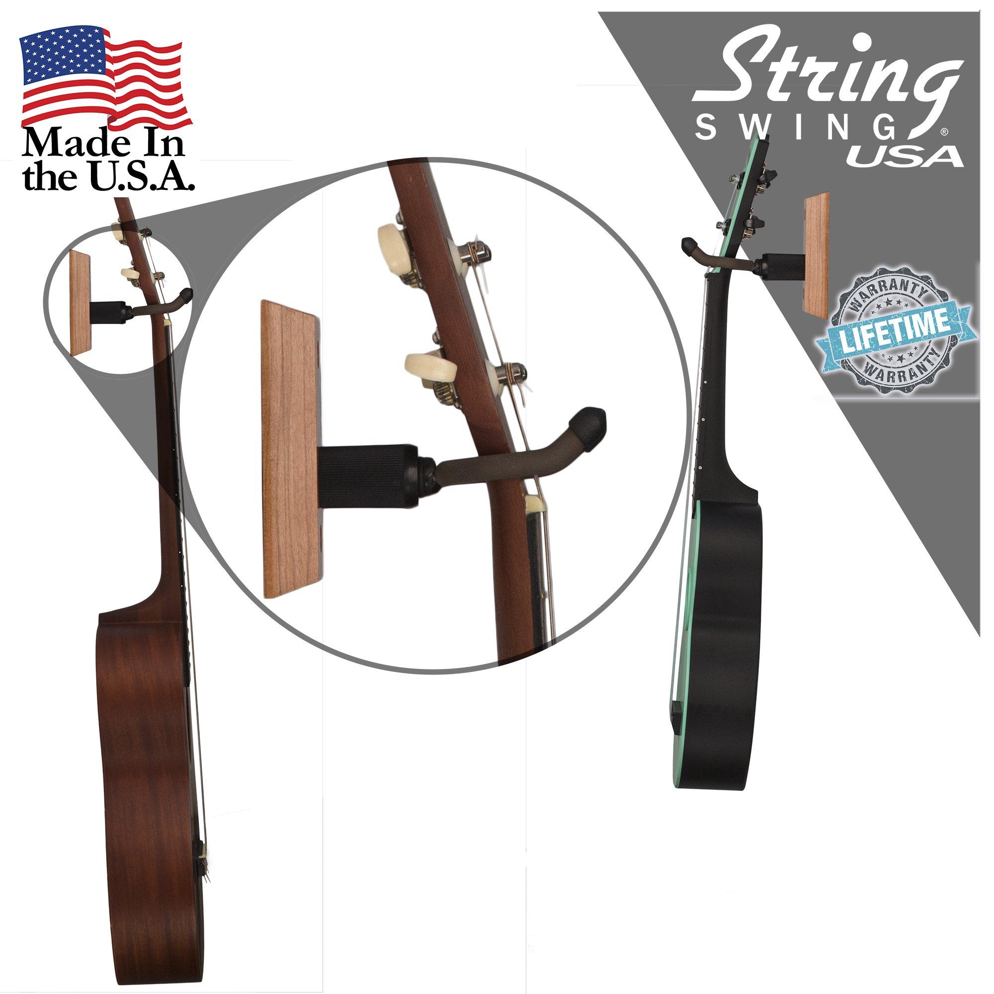 Oak Ukulele Wall Mount Hanger Hook holder 2 Pack