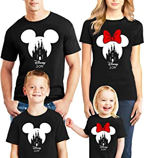 Disney Family Trip 2019 Disney Castle T-Shirts Gift Mickey Minnie Mouse Shirts