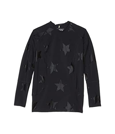 Nununu Star Long Sleeve Rashguard (Little Kids/Big Kids) (Black) Boy