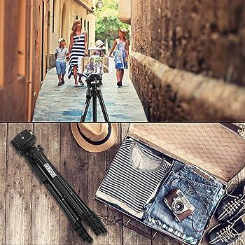"PEYOU Compatible for iPad iPhone Tripod, 50"" Lightweight Aluminum Phone Camera Tablet Tripod + Wireless Remote + Univ..."