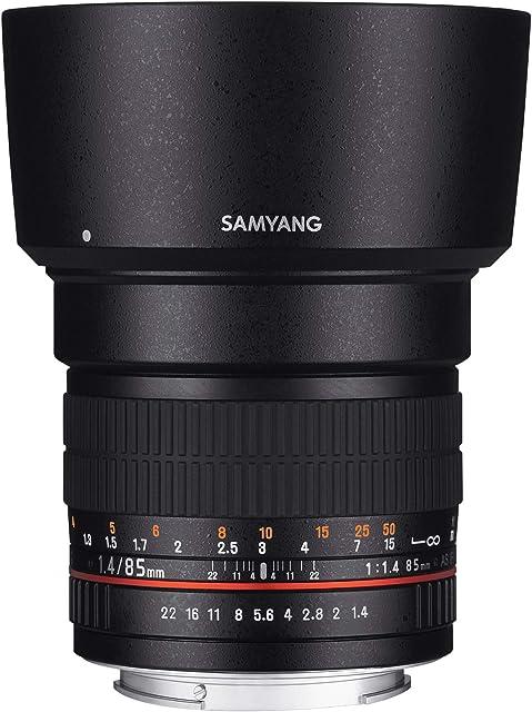 Samyang F1111203102 - Objetivo fotográfico DSLR para Nikon F Ae (Distancia Focal Fija 85mm Apertura f/1.4-22 AS IF UMC diámetro Filtro: 72mm) Negro