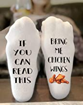 If You Can Read This Bring Me Chicken Wings Novelty Funky Crew Socks Men Women Christmas Gifts Cotton Slipper Socks