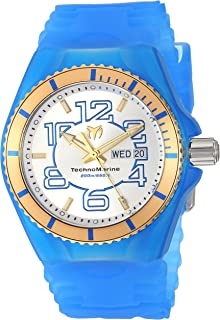 Technomarine Men's Cruise Stainless Steel Quartz Watch with Silicone Strap, Blue, 28 (Model: TM-115143)